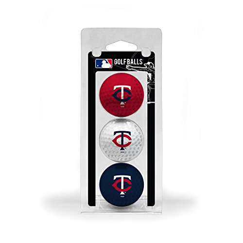 (Team Golf MLB Minnesota Twins Regulation Size Golf Balls, 3 Pack, Full Color Durable Team Imprint)