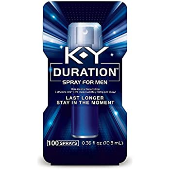 K-Y Duration Spray for Men - Last Longer and Stay in the Moment, 100 sprays/0.36 fl oz