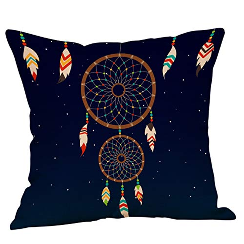 Juner Decorative Throw Pillow Cover Cushion Covers, Dreamer Catcher Pillowcase Pillow Shams, For Sofa Bedroom Car Chair Gift 18x18 Inch (A)