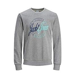 Jack & Jones Originals Sweater Mens Logo Print Summer Jumper Sweatshirt JORRival 12157495