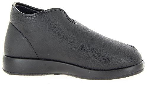 Varomed Londen Slippers 60924 Unisex-volwassen Vrouwen Mannen, Therapie Schoenen, Bandage Schoenen Zwart