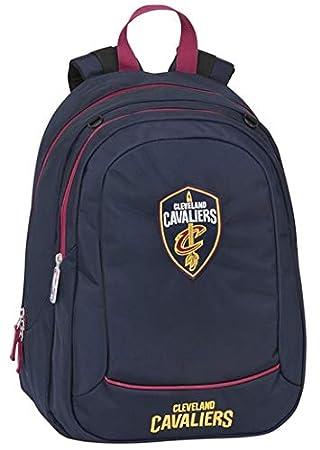 Mochila Americana Cleveland Cavaliers Big Ovalada NBA Oficial Escolar + bolígrafo + marcapáginas: Amazon.es: Equipaje
