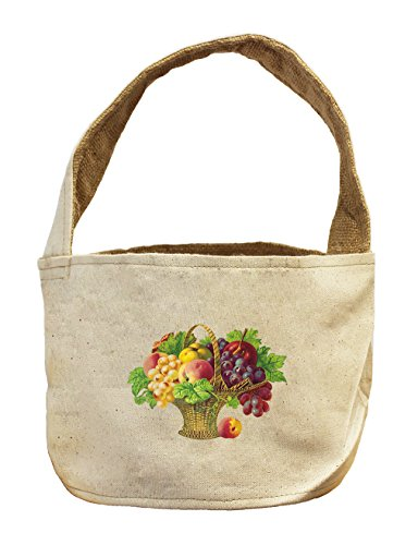 Canvas And Burlap Storage Basket Mix Fruit Basket By Style In Print
