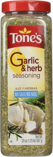 Seasoning Herb Garlic (Tone's Garlic and Herb Seasoning No MSG, No Salt, 20 Ounce)