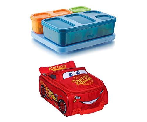 Rubbermaid Boys' Lunch Kit, Flat Bundle with Disney Cars Speed My Speed Lunch Tote