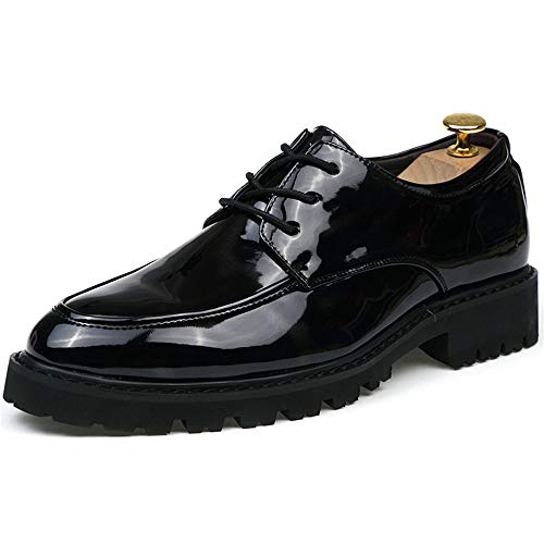 Negocios Transpirable Black tamaño Antideslizante Charol 2018 Oxford Casual Color Classic de Suela Zapatos Shoes 40 Black Formal EU y Hombre Hombre Red Chic Gray FFnqT7wI