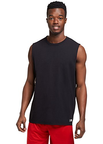 Russell Athletic Men's Essential Muscle T-Shirt,Black,Large (Athletic Mens Shirt)
