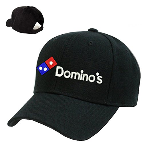domino-pizza-black-embroidery-adjustable-baseball-cap-souvenier-gift-unique-hat