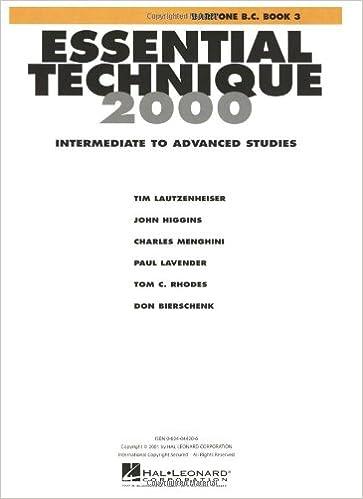 Book Essential Technique 2000: Baritone B.C.