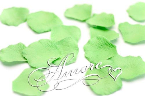 1000 Wedding Silk Rose Petals Key Lime Green 2 inch Wide (Key Petals)