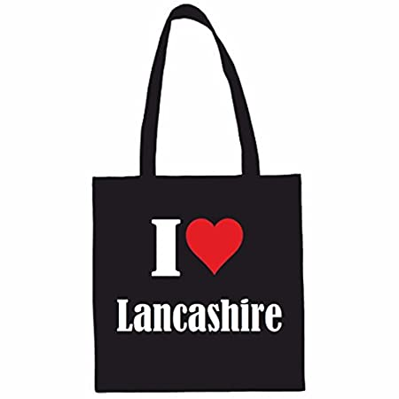 I Love Lancashire Shopping bag school bag sports bag 38x 42cm in Black or White … the ideal Gift for Christmas – Birthday – Easter or just for yourself … the ideal Gift for Christmas – Birthday – 41O8sWfOomL