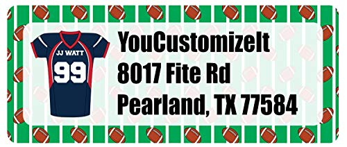 Football Jersey Return Address Label (Personalized)