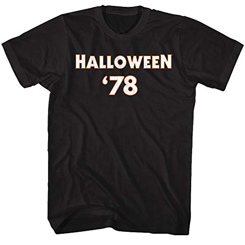 Halloween Scary Horror Slasher Movie 1978 Michael Meyers F & B Adult T-Shirt Tee Black]()