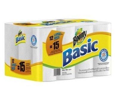 Basic Paper Towels Large Rolls 24 Ct