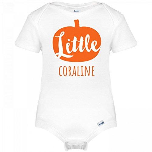 Coraline Costume For Kids (Little Halloween Pumpkin Coraline: Infant Gerber Onesies)