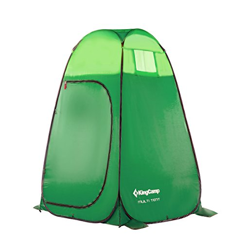 KingCamp Portable Pop Up Privacy Shelter Dressing Changing Privy Tent Cabana Screen Room w Weight Bag for Camping Shower Fishing Bathing Toilet Beach Park, Carry Bag Included,Green