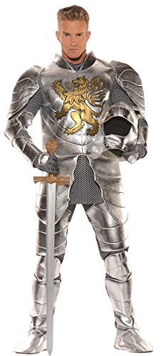 UHC Men's Medievel Knight in Shining Armor Outfit Halloween Fancy Costume