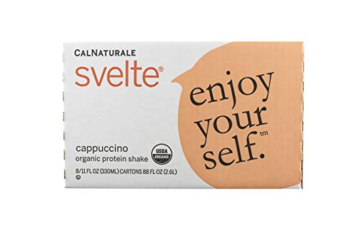 Svelte Organic Protein Shake, Cappuccino, 11 Ounce (Pack of -