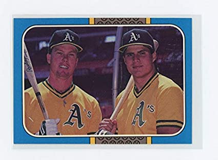 1987 Donruss Highlights 40 Mark Mcgwire Jose Canseco Dual As