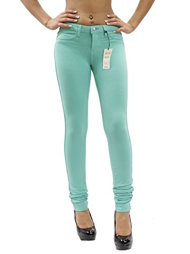 mint colored jeans - 5