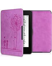 kwmobile hoes compatibel met Amazon Kindle Paperwhite - Hoesje voor ereader in paars - Paardenbloemen Liefde