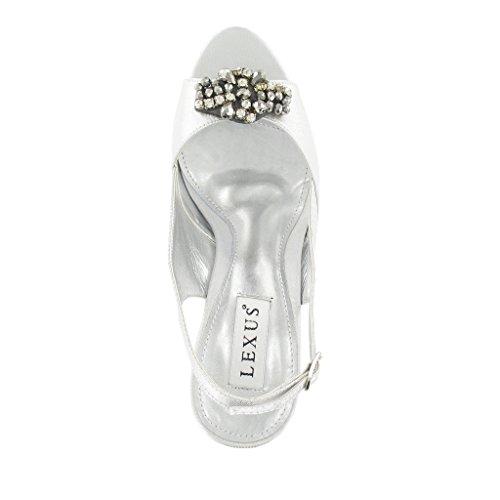LEXUS - Zapatos con correa de tobillo mujer Plateado - plata