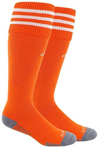 adidas Unisex Copa Zone Cushion III Soccer Socks (1-Pair), Orange/White, 9-13