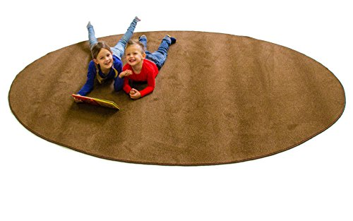- Learning Carpets Solid Bark Oval Small Carpet, One Color, 6-Feet x 5-Inch x 9-Feet x 4-Inch