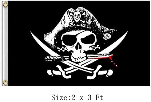 SKULL AND CROSSBONES FLAG 5 x 3 HIGH QUALITY BLACK /& WHITE PIRATE FUN PARTIES