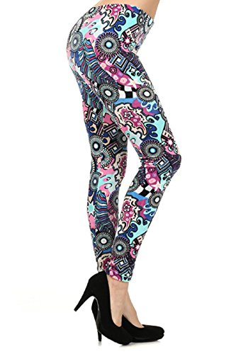 Multi-Color Blue & Pink Labyrinth Stretch Velour Abstract Graphic Pattern Print