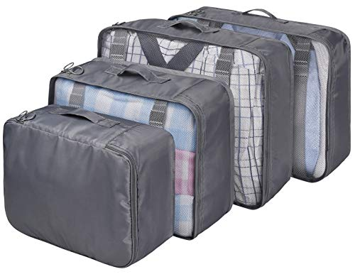 VAGREEZ Packing Cubes 4 Pcs Travel Luggage Packing Organizers Set by VAGREEZ (Image #7)