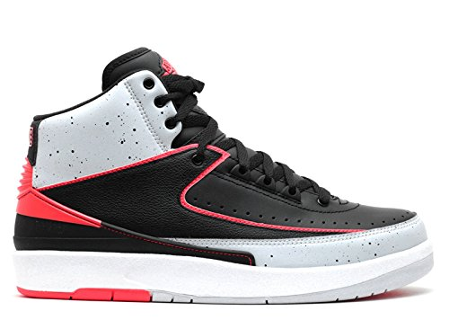 Nike Men's AIR Jordan 2 Retro Infrared 23 Shoes in Black Leather 385475-023 sneakernews cheap price geniue stockist for sale buy cheap clearance store get to buy cheap price clearance 100% original qghVX8w2aG