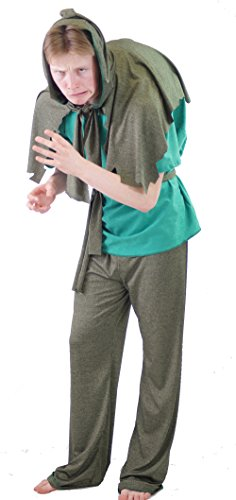 [Dance-Stage-Panto-World Book Day-Fancy Dress-Quasimodo HUNCHBACK NOTRE DAME Men's Costume - From Sizes S-4XL] (Quasimodo Costume Uk)