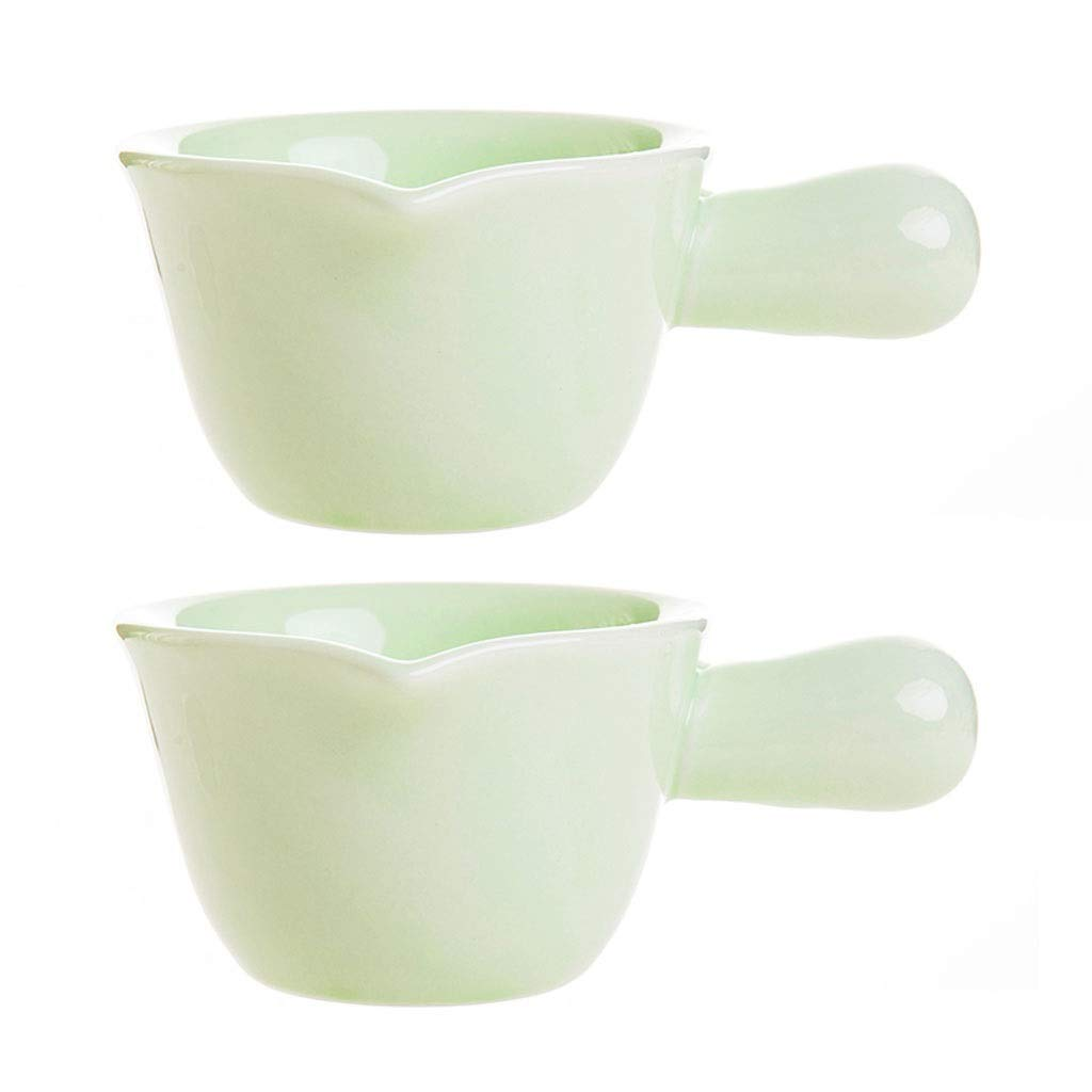 Warming Sauces Color : Black Gravy Sauce Boat//Saucer Stand 2pcs Gravy Boat with Handle Small Ceramic Milk Sauce Dish Ceramic Saucer Sauceboat for Family Party Commercial Use For Gravy