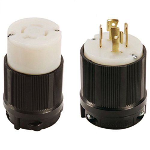 OCSParts L16-20 NEMA L16-20 Plug and Connector Set - Rated for 20A, 480V, 4-Wire, 3 Pole - cUL Listed (Pack of 2)