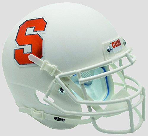 NCAA Syracuse Orangemen Mini Authentic XP Football Helmet, Matte White Alt. 4, Mini