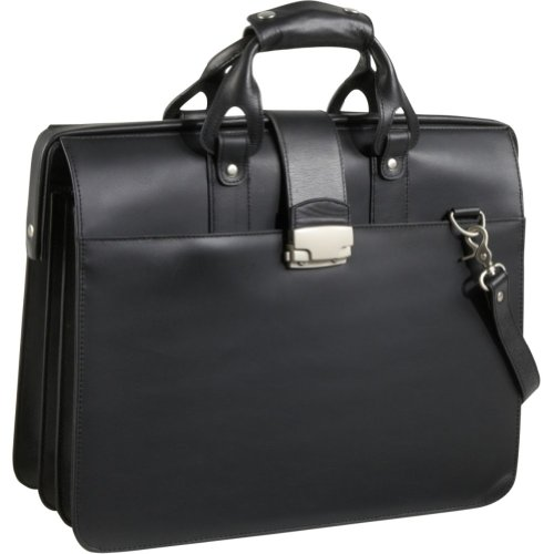 AmeriLeather Leather Doctor's Carriage Bag (Black), Bags Central