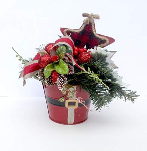 Christmas table centerpiece, Santa belt, Holiday Table Décor, Christmas Arrangement, floral arrangement, party decor, hostess gift
