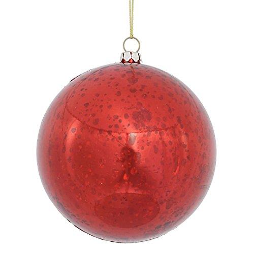 Vickerman M166303 Ball with Mercury Finish in 6 to a Bag, 100mm, Shiny (Mercury Ball Ornaments)