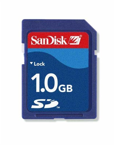 Sandisk 1 gb secure digital sd card (sdsdb-1024, bulk package) 1 non-volatile solid-state capacity: 1gb low battery consumption to maximize battery life