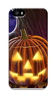 iPhone 5 5S Case Carved Pumpkin Face 3D Custom iPhone 5 5S Case Cover