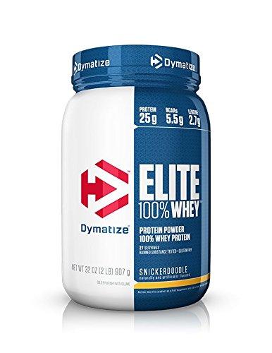 Dymatize Elite 100% Whey Protein, Snickerdoodle, 2 lbs