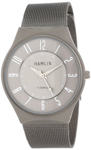 Hamlin Men's HAMM0314:001/04E92GT Titanium-Plated Watch with Mesh (Plated Titanium Mesh)