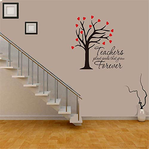 Tiude Vinyl Wall Decal Wall Stickers Art Decor Wall Decal Quote Teachers Plant Seeds That Grow Forever for Classroom School (Best Building Seeds For Minecraft)