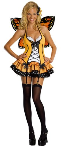 [Secret Wishes  Fantasy Butterfly Costume, Orange, Small] (Orange Adult Butterfly Costumes)