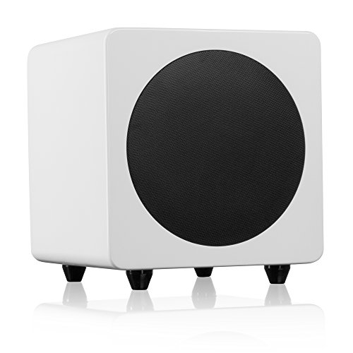 "Kanto sub8 Powered Subwoofer – 8"" Paper Cone Driver — Powerful Bass Extension – Gloss White by Kanto"