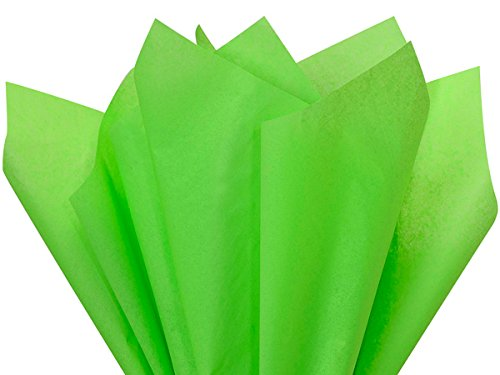 Groovy Green Tissue Paper 15 X 20 - 100 Sheet Pack by Premium Tissue Paper