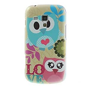 TOPAA ships in 48 hours Fancy LOVE Owl Printed Hard Plastic Case Cover for Samsung Galaxy S Duos S7562 S7560