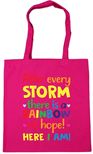 There Shopping Gym 10 Fuchsia 42cm A Hippowarehouse Litres Of Rainbow Am Here Hope X38cm After Every Beach Storm Tote Bag I Us HnqOtp6