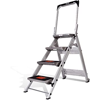 Little Giant Ladder Systems 10410BA Safety Step Ladder Four Step with Bar 2 x 11  sc 1 st  Amazon.com & Amazon.com: Little Giant 3 step Aluminum 2-1/4 Feet 300 lb ... islam-shia.org